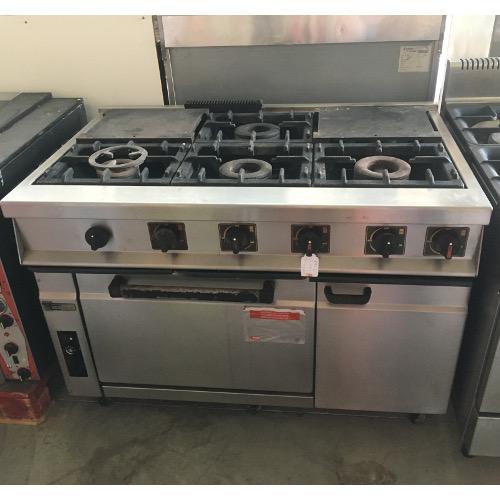 Vera maquinaria de hosteleria cocina 4 fuegos for Planchas de cocina industriales de segunda mano